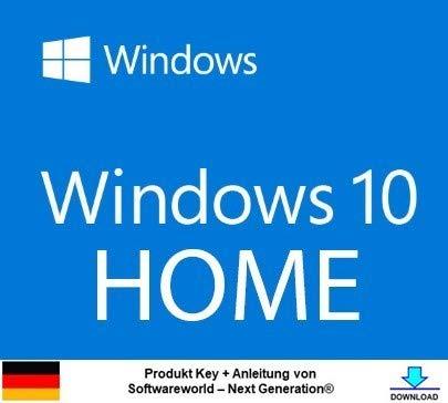 Windows 10 Home 32 bit & 64 bit Vollversion Aktivierungsschlüssel + Anleitung von Softwareworld – Next Generation®