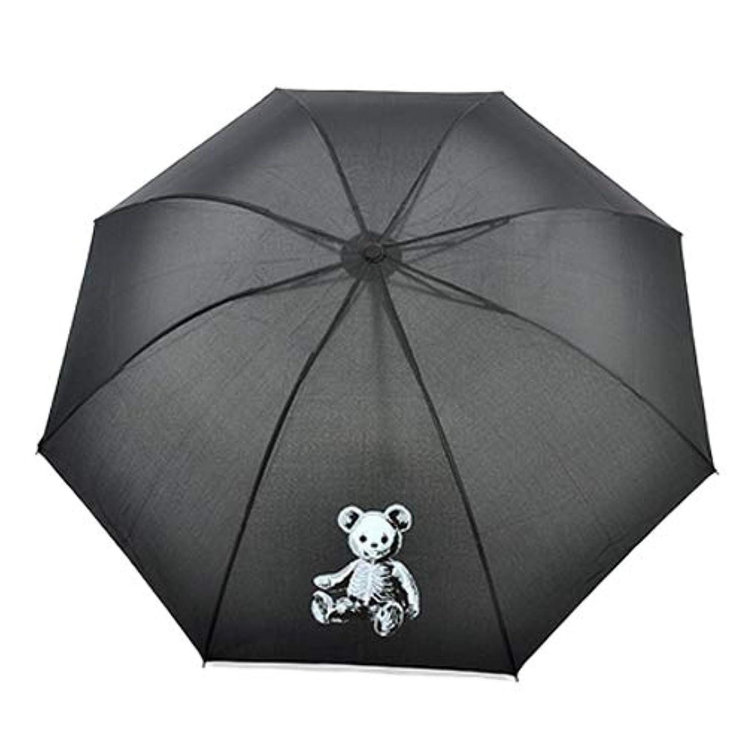 派手足音猟犬Drug Honey(ドラッグハニー) スケルトンテディ プリント 折りたたみ傘【190162】