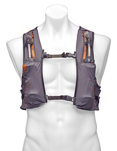 Nathan NS4535 Vaporkrar Hydaration Pack Running Vest with 1.8L Bladder, Steel Grey, Small