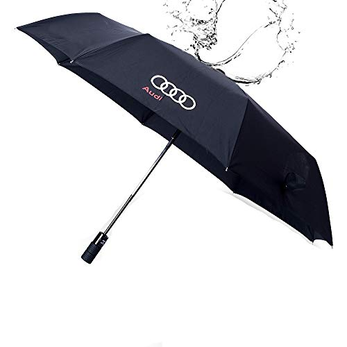 QZS Automatic Auto Open Folding Umbrella QS115(2020 Sport Large Umbrella for Windproof Sunshade Travel Including Telfon Coating Super Quality 42Inch Inside 46Inch Outside for Audi Car