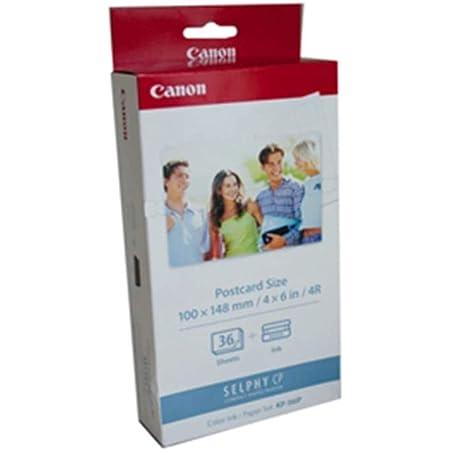 Canon 7737a001 Kp 36ip Photo Paper Inkjet 100x148mm 36 Blatt 50er Pack With Ink Cassette For Cp 100 Bürobedarf Schreibwaren