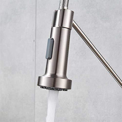 Función dual Pulverizador de cocina Cabezal cromo Reemplace el caño para la cocina del grifo del grifo del pulverizador del rociador para la cocina del grifo de la cocina ( Color : Brushed Nickel )