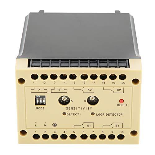 Changor Detector de vehículos de Grado Industrial Ajustable, 0-4.5s de retardo Ajustable Detector de vehículos de Detector de vehículos con Cubierta de moldeo y Metal Hecho para estacionamiento