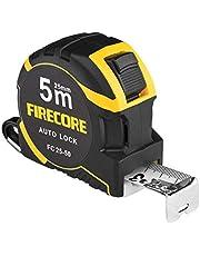 Firecore メジャー 巻尺 巻き尺 5m メジャー スケール ナイロンコーティング 距離測定器 測定器 目盛り 見やすい diy 作業工具 大工道具 FC25-50