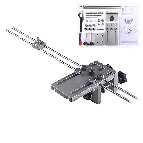 KKTECT Plantilla de centrado de espigas 3 en 1 6/8/10 / mm Localizador del kit de guía de broca Kit de localización de guía de broca Plantilla para clavijas autocentrantes para carpintería