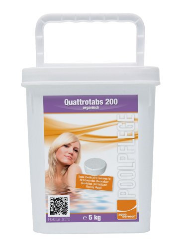 Steinbach Poolchemie Quattrotabs organisch, Aquacorrect, 200 g / 5 kg