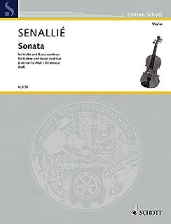 SCHOTT SENAILLE J.B. - SONATA IN D MINOR - VIOLIN AND BASSO CONTINUO Partition classique Cordes Violon