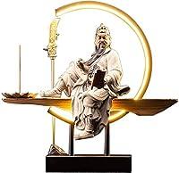 置物関羽像関羽カンクァンカン中国三国群英雄装飾像ファイティングウォリアー樹脂像置物富の神最高の中国風水ギフト