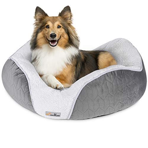 G.C Cama Antiestres Perro Grande Mediano Pequeño, Perros Gatos Relajante Orthopedic Suave Lavable Desenfundable Cueva Colchonetas Liners para Mascota
