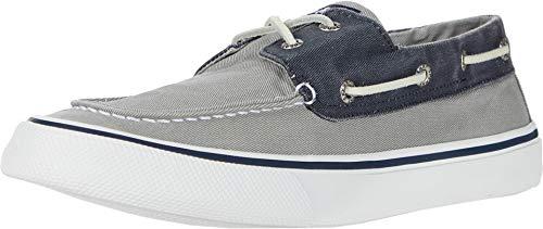 Sperry Men's Bahama II Boat Shoe, SW Grey/Navy, 10.5 M US