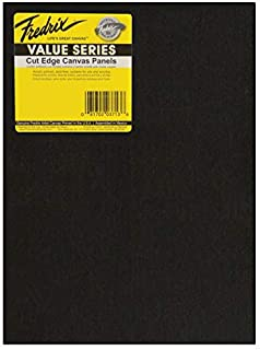 Fredrix Value Series Cut Edge Canvas Panel, 8 x 10 in, Black, Pack of 25