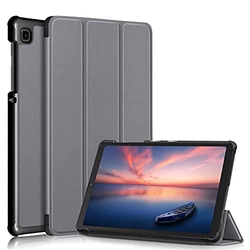 A-BEAUTY Funda para Galaxy Tab A7 Lite 8.4 pulgadas 2021 (SM-T220/T225), funda ultrafina de tres pliegues, gris