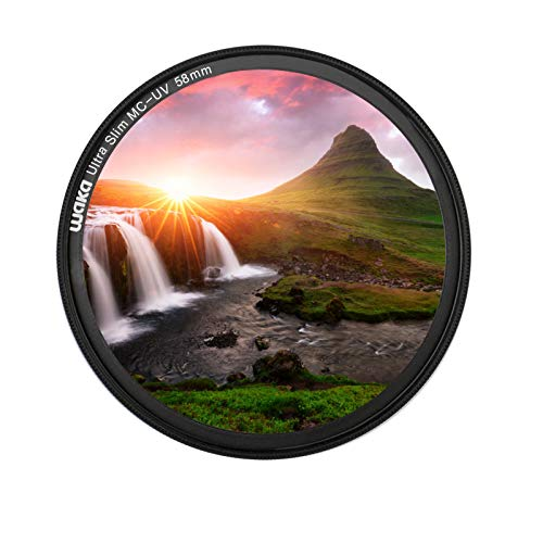 MC 58mm UV Filter - Ultra Slim 16 Layers Multi Coated Ultraviolet...