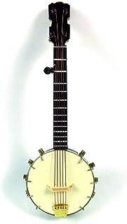 ALANO Miniature Banjo Ornament Mini Banjo with Gift Box Mini Musical Instrument Home Decoration (JO-14-S)