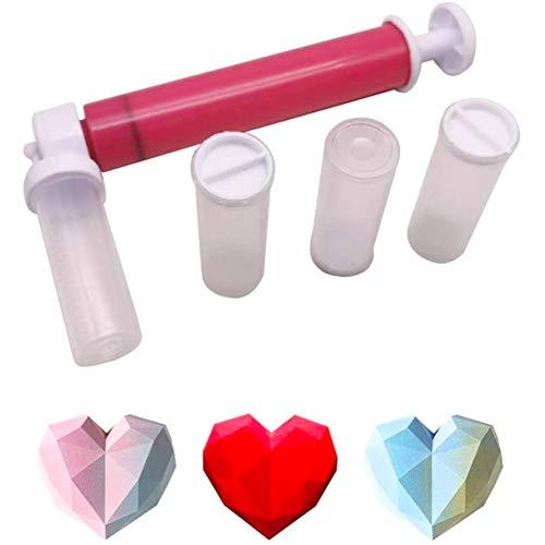 BTASS Kit De Tubo De Pulverización Manual para Pasteles, Colector De Polvo para Colorear Pasteles, Herramientas para Hornear, Tubo De Pulverización para Pasteles para Hornear