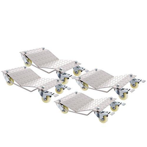 OldFe 4pz Assistanza Per Parcheggio 4pz Wheel Dollies Con 4 Carrelli Capacità 680kg L'Assistente Di Parcheggio Salvaspazio Regolabile