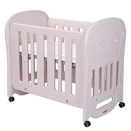 JOYMOR 3-in-1 Convertible Baby Crib Playard or Rocking Crib,Infant Bed 2 Heights Adjustable and Easy to Assemble,Mattress not Included