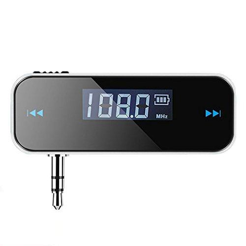 Gazechimp Drahtlos / Wireless FM Transmitter Auto KFZ Audio Radioempfänger mit LCD Display für MP3, MP4 und meisten Geräte mit 3,5mm Audio Jack