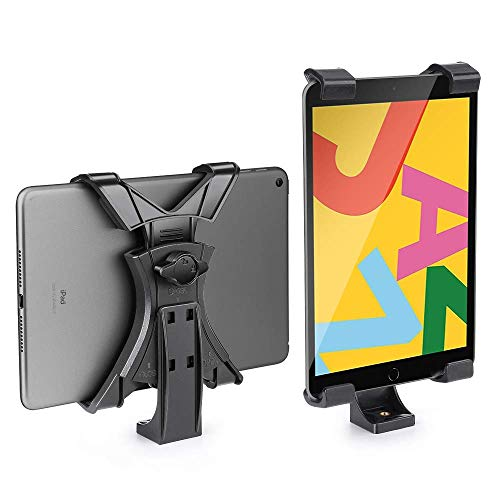 zeadio iPad Tripod Mount Holder, Universal Tablet Clamp Adapter, Fits for iPad, iPad Air, iPad Mini, Microsoft Surface, Nexus and Most Tablets, Compatibility with Tripod, Monopod, Selfie Stick, etc