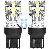 MCK Auto - Remplacement pour T20 7443 W21/5W LED CanBus Ensemble d'ampoules blanches très claires et sans erreur compatibles avec A1 Q3 F20 F21 Ranger Berlingo 208