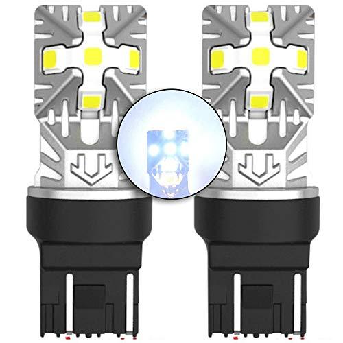 MCK Auto - Reemplazo para T20 7443 W21/5W LED CanBus Conjunto de bombillas blancas muy claras y sin errores compatibles con A1 F20 F21 208