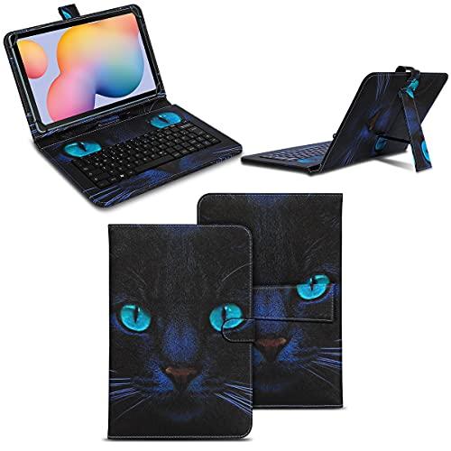 NAmobile Funda con teclado compatible con Samsung Galaxy Tab A7 de 10,4 pulgadas, funda con teclado USB, QWERTZ, función atril, funda universal