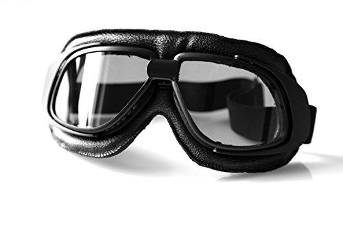 ATOMoto T10 Fliegerbrille für Oldtimer Motorradbrille Retro Brille