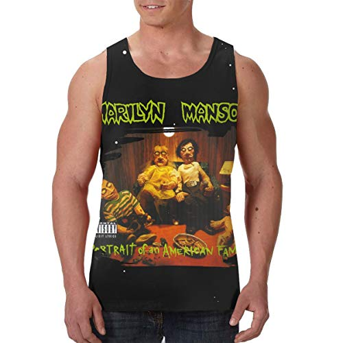 GavinP Men's Marilyn Manson Portrait of an American Family Training Vest Tank Top Tee L