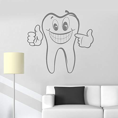 Diente calcomanías de pared cuidado dental etiqueta de vinilo arte Home Decor baño Mural impermeable Wallpaper Poster ~ 1 44 * 42 cm