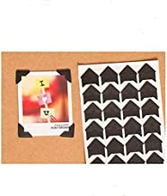 360 Count Self-Adhesive Acid Free Photo Corners Scrapbooks Memory Books (Black)