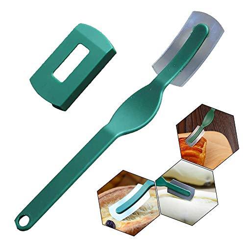 Brot Lame Brot Blatt Profi Dough Scoring Tool Plastikhandgriff Sharp Carbon Steel Brotschneider-Werkzeug mit Schutzabdeckung Geschenk für Backen Liebhaber