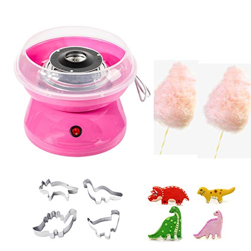 Classic Cotton Candy Maker- Sugar, SugarFree, Hard Candy Cotton Candy Machine Suitable for Home and Party,Pink