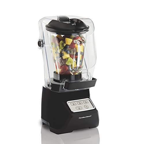 Hamilton Beach SoundShield 3-Speed Blender, 950 Watts, 52oz Glass Jar, Blends Food, Shakes and Smoothies, Black (53600)