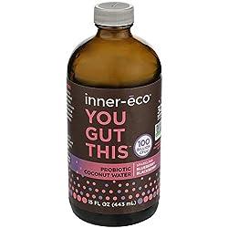 Inner Eco, Probiotic Coconut Water Blueberry BlackBerry, 15 Fl Oz