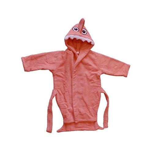 BOMIO | Baby Bademantel Hai | Baby Kapuzen-Bademantel aus 100% Baumwolle | Oeko-Tex Standard 100 Zertifiziert| Made in Germany | 74/80 | Apricot