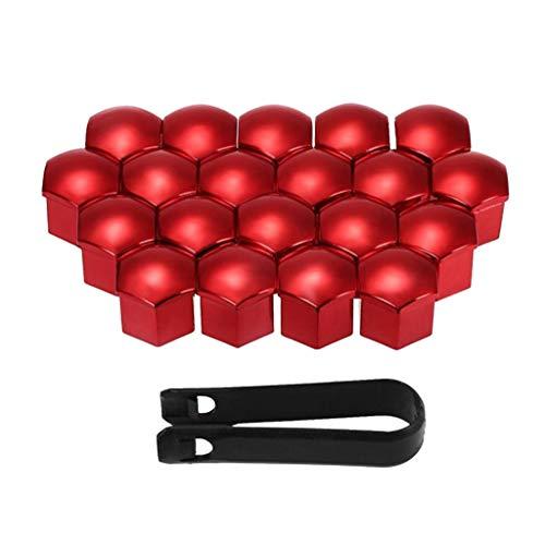 Toygogo Universal 21mm Radmutterabdeckungen 20pcs Radmutternkappen Schraubschutz Radschrauben Radschraubenkappen Radkappen - Rot