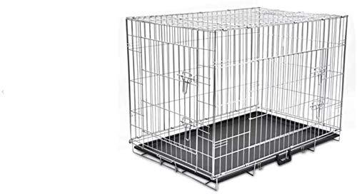 Zerone Faltbare Hundebox, Hundekäfig Metall Hundebox mit 3 Türen fur Hund Katzen Hasen Nager Kaninchen Geflügel, XL 109 x 70 x 78 cm