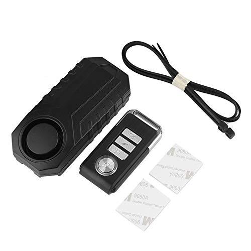 Tosuny Wireless Motorrad/Fahrrad Alarmanlage, Sicherheitsschloss Diebstahlschutz mit Fernbedienung, drahtloses Fahrrad Alarm System, wasserdicht und Super Laut schwarz
