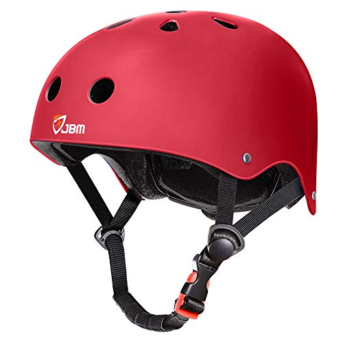 JBM Skateboard Helmet CPSC ASTM Certified Impact Resistance Ventilation for Multi-Sports Cycling Skateboarding Scooter Roller Skate Inline Skating Longboard