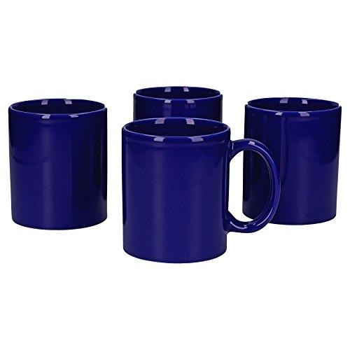 Wellco Design Kaffeebecher, Keramik, Blau, 25 x 17 x 17 cm, 4-Einheiten