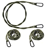 Shappy 3 Pieces Bungee Clothesline Portable Travel Compact Clothesline with Hooks Elastic Balcony Clothesline for Camping Boaters Hikers Travelers Balcony Laundry Clothes, 1.2 m, Green