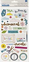 Thickers Whimsical - Phrase and Icons - Chipboard - Whimsical - Copper Foil (89 Piece)