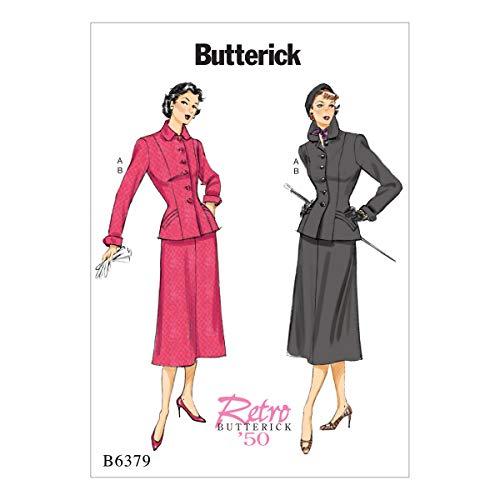 Butterick Patterns Patron/Petite Veste et Jupe, Multicolore, Tailles 14–22