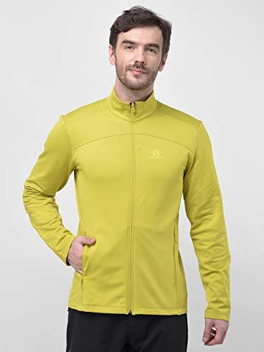 Salomon Herren Discovery Leichte Fleece-Jacke Gelb (Citronelle) M