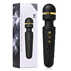 YUECHAO handheld massager vibration, wireless silicone massager wall with 8 * 20 vibration modes, waterproof massage stick for neck shoulder muscle neck, USB rechargeable, MULTIPLE-WAY (A01)