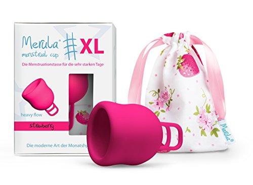Merula Cup XL strawberry (rose) - La coupe menstruelle pour les journées intenses