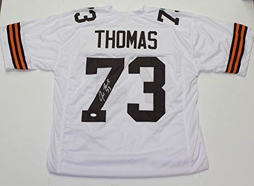 Joe Thomas Autographed Signed Cleveland Browns Custom White Retro Jersey- JSA Authentic