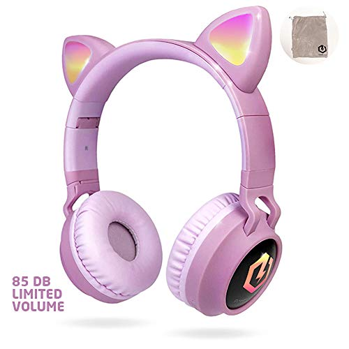 PowerLocus Auriculares Bluetooth de Diadema para niños,