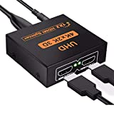 HDMI 分配器 1入力2出力 4K*2K @30Hz HDMIスプリッター 2画面同時出力可能 3D映像 高画質 高解像度 対応 PC Xbox PS4 任天堂スイッチ Fire TV Stick プロジェクター 対応