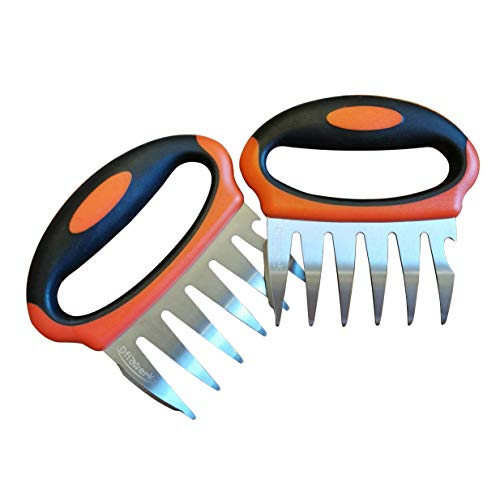 DflowerK Meat Claws Stainless Steel Pulled Pork Shredder Claws BBQ Meat Forks, Perfect for Shredding Handing Carving Chicken Beef Cold Turkey Red Meat